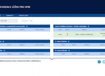 SharePoint - VFN v Praze - aplikace Evidence lůžek