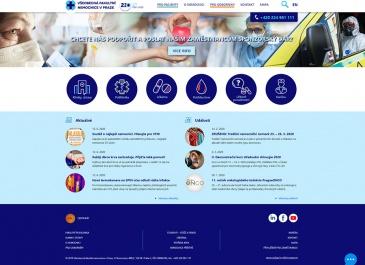 Web VFN v Praze - úvodní stránka