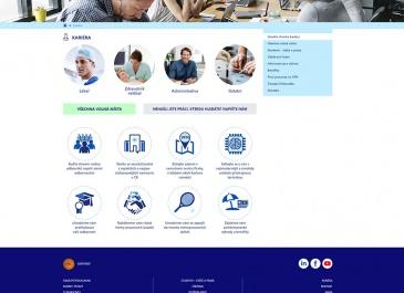 Web VFN v Praze - sekce kariéra