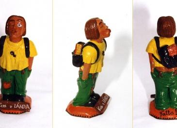 Puberťák - hlína, tampery, lak (1996, výška 14 cm)