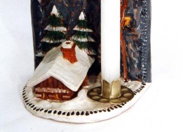 Chata pod stěnou - hlína, tempery, lak (1996)