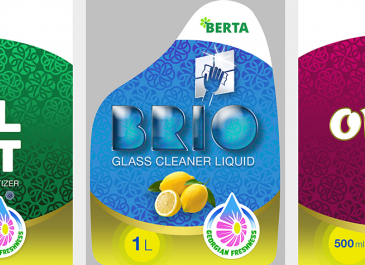 Berta - etikety výrobků - tvorba konceptu (Gruzie)